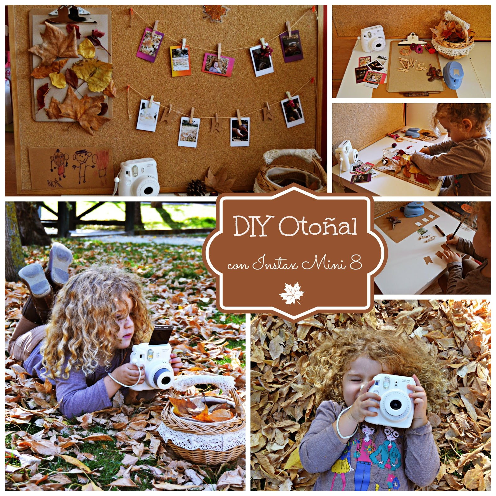 #InstaxDIY DIY otoñal con fotos Instax Mini 8 de Fujifilm blog infantil mama de noa