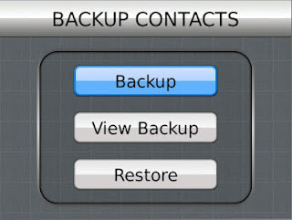 Backup Contacts Application for Blackberry