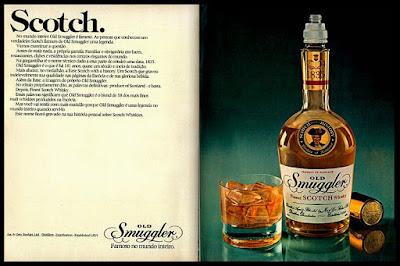 whisky Old Smuggler; scotch whisky; história da década de 70. Reclame anos 70. Propaganda anos 70. Brazil in the 70s, Oswaldo Hernandez;