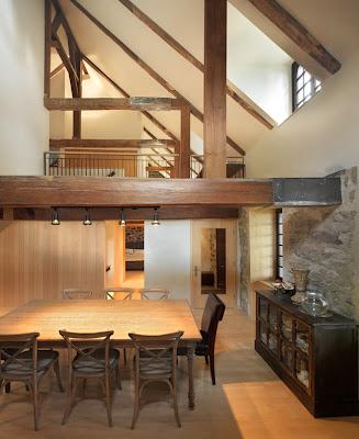 Estilo rustico ampliacion moderna en casa rustica for Casa moderna kw