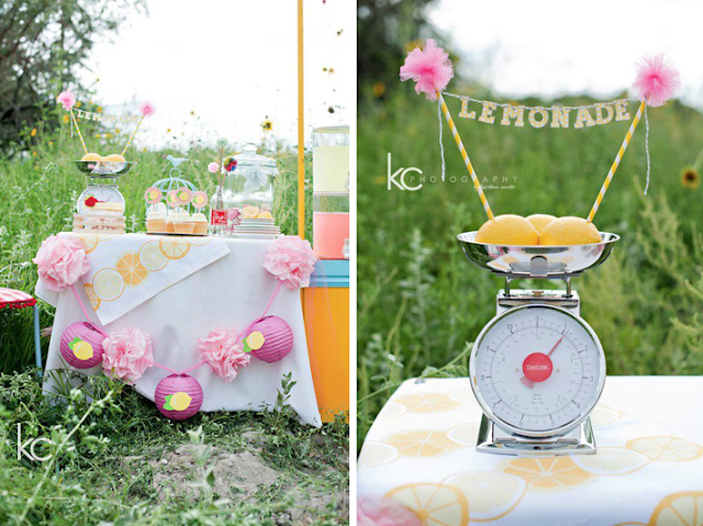 Evento con limonada en el campo