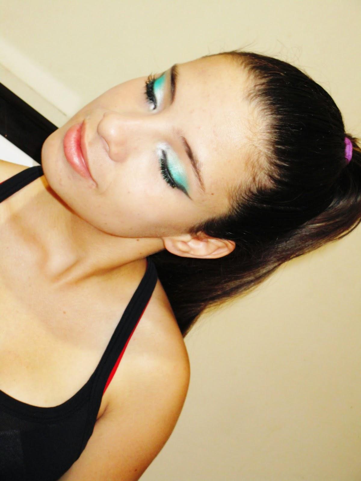 maquiagem verde