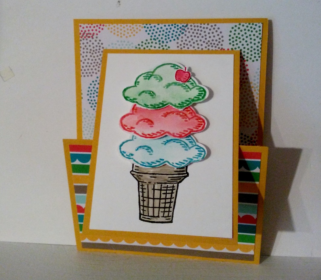 Sharon's Inkie Fingers: Joy Fold Card