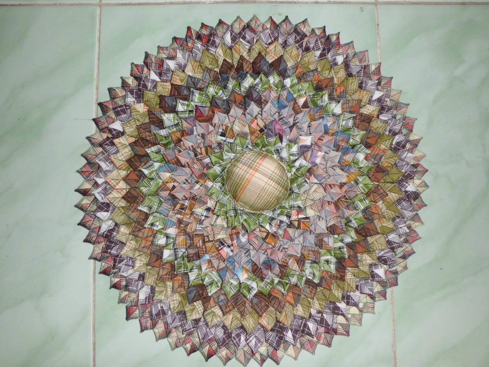 tadi. Dibawah ini contoh motif dan bentuk keset dari kain perca