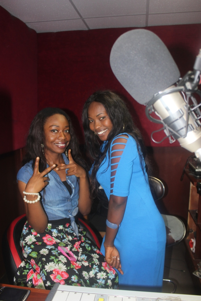 Iphie and Erefa at Rhythm FM studio. (Image Credit: iphieonline.blogspot.com)