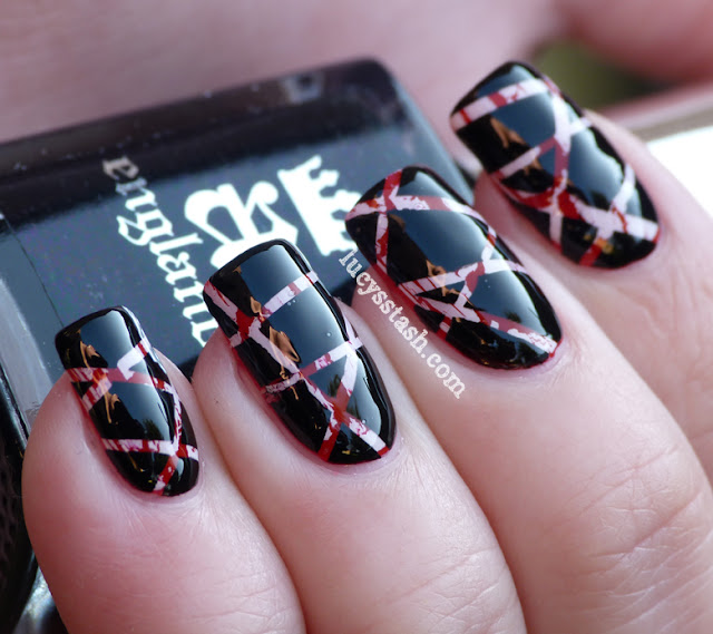 Lucy's Stash - Marbled tape nail art with tutorial