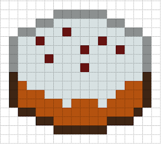 Cake Pixel Art Template : Minecraft Pixel Art Templates: Cake