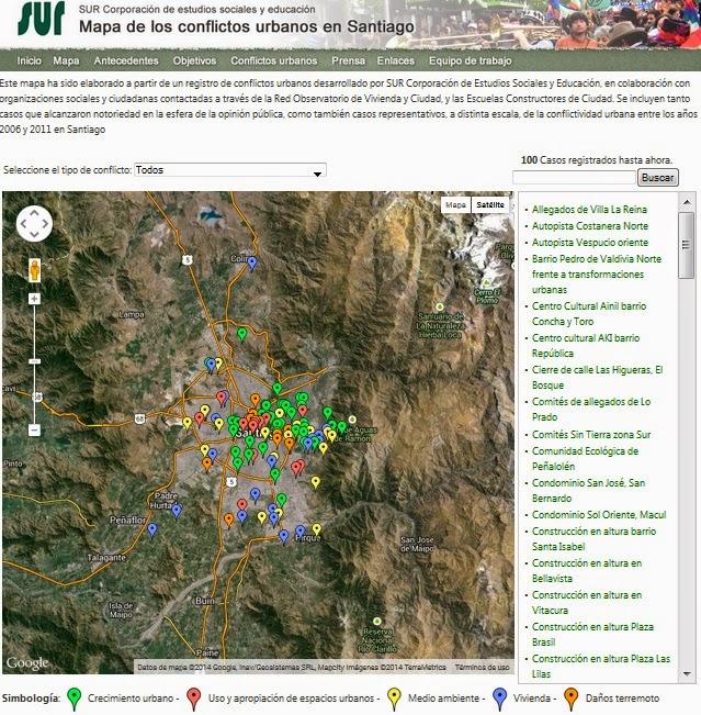 Mapa de conflictos urbanos SUR
