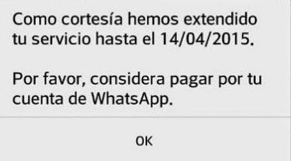 WhatsApp de Facebook regala 1 año de servicio
