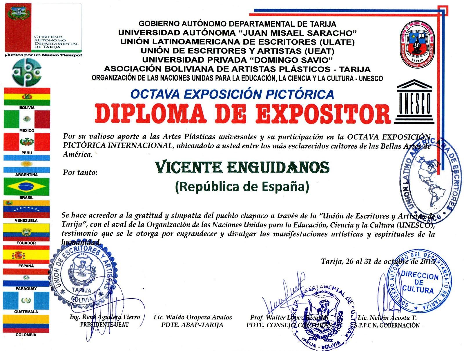 DIPLOMA DE EXPOSITOR