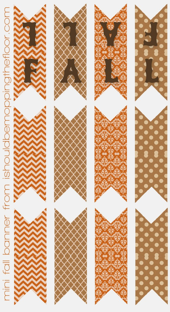Free Printable Fall Mini Banner | Perfect for wreaths, cakes, mirror corners and more!