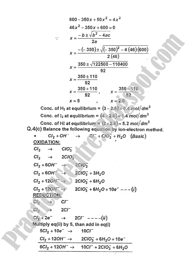 Chemistry-Numericals-Solve-2013-five-year-paper-class-XI