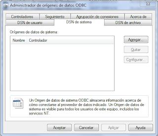 AreaTIC, [Microsoft][Administrador de controladores ODBC]  No se encuentra el nombre del origen de datos y no se especificó ningún controlador predeterminado