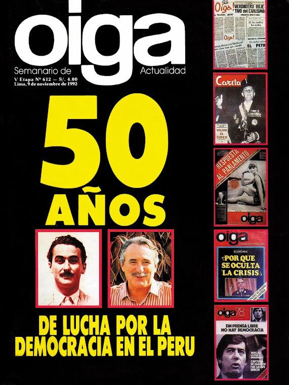 50 AÑOS DE LUCHA POR LA DEMOCRACIA EN EL PERU