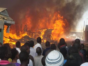 Inferno: Lagos Mainland Building, Others Razed by Fire