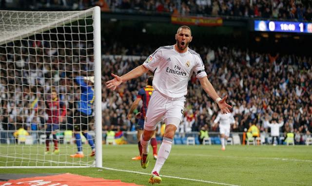 Karim Benzema goal score vs Barcelona