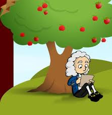Newton and apple tree