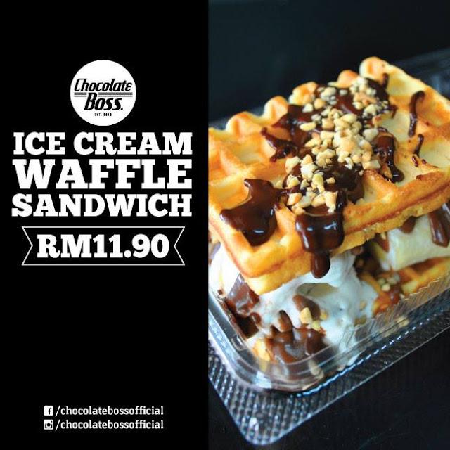 ice cream waffle sandwich, tempat lepak di penang, lokasi makan sedap di penang, menu best di penang,