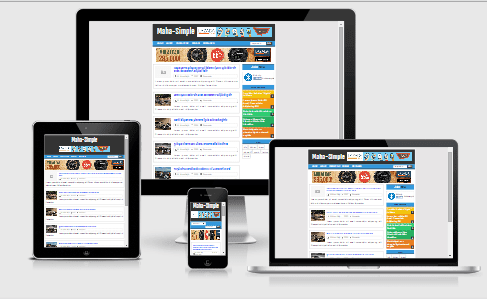 Template Maha Simple Fast Loading dan Responsive
