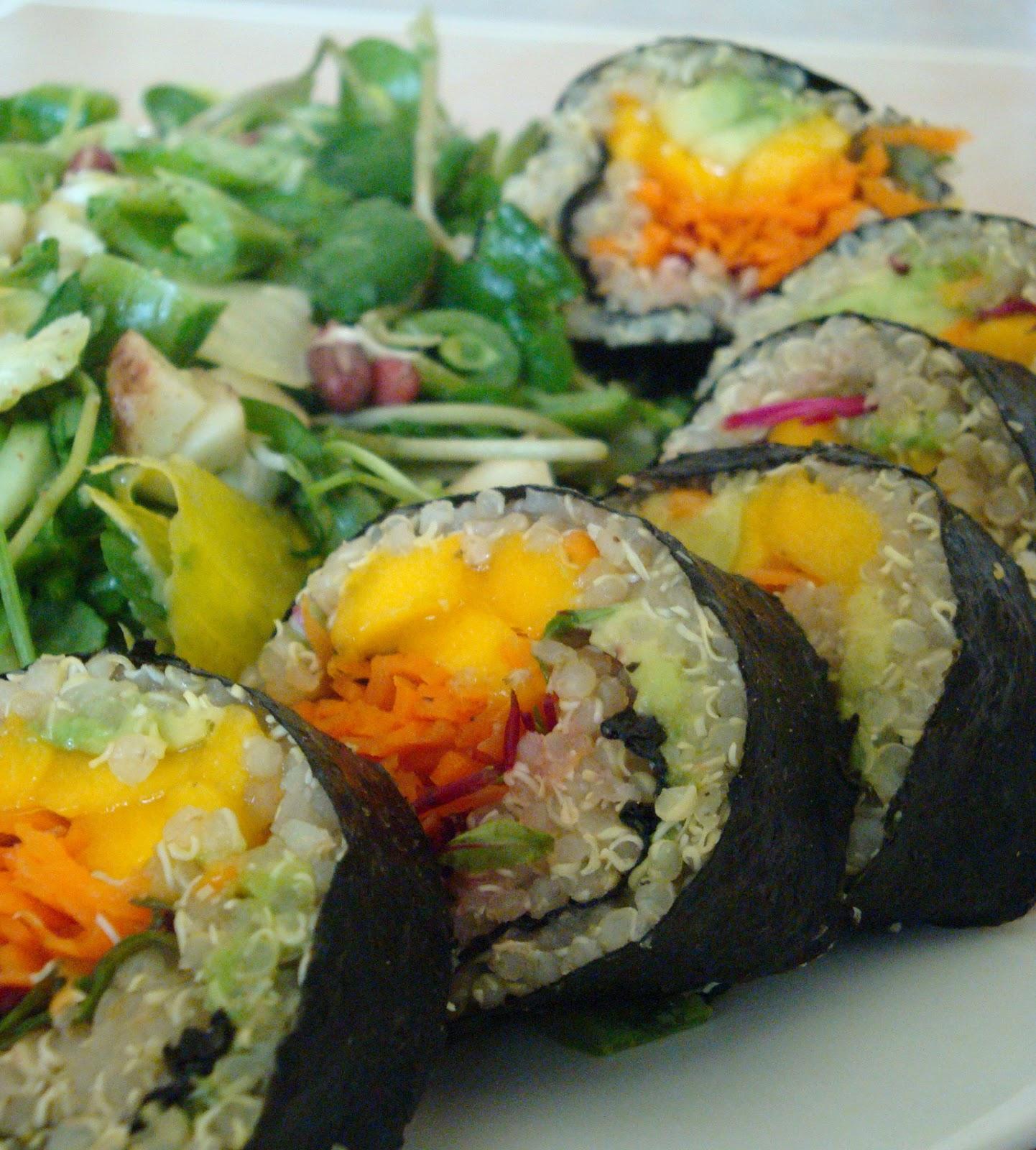 The Vegan Chica: Forbidden Black Rice Sushi