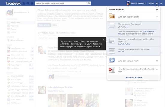 Facebook Permudah Kawalan Sekuriti Pengguna