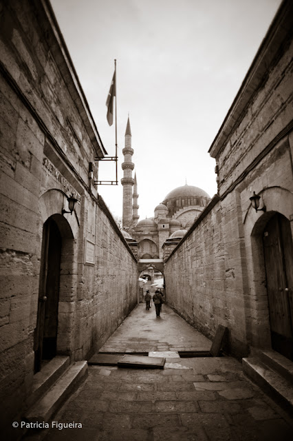 Arriving at Süleymaniye Mosque