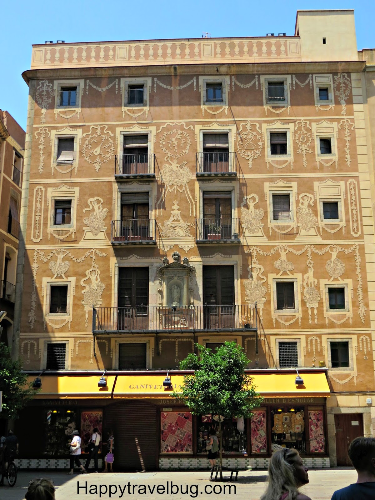 Beautiful building in the gothic quarter of Barcelona, Spain