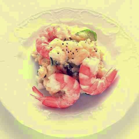 resep salad kentang dengan udang