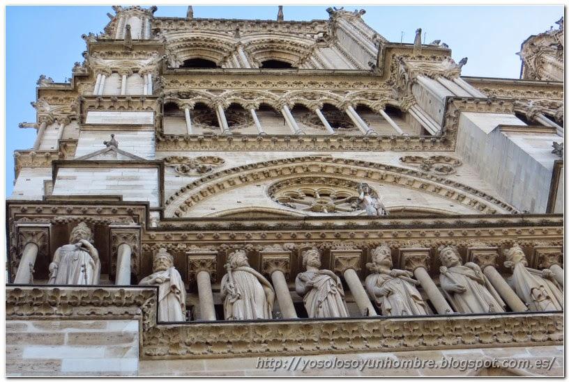 Detalle de la fachada de Notre Dame