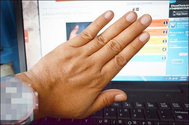jari tangan kiri pandangan atas : wafacw.blogspot.com