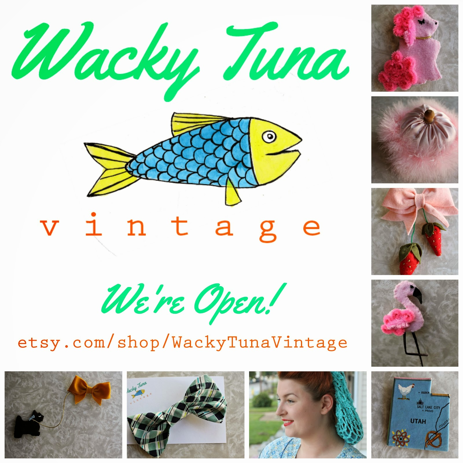 vintage felt brooches, snoods and scarves from wacky tuna vintage on etsy