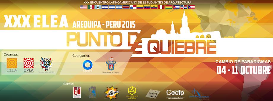 XXX Encuentro Latinoamericano de Estudiantes de Arquitectura (ELEA)