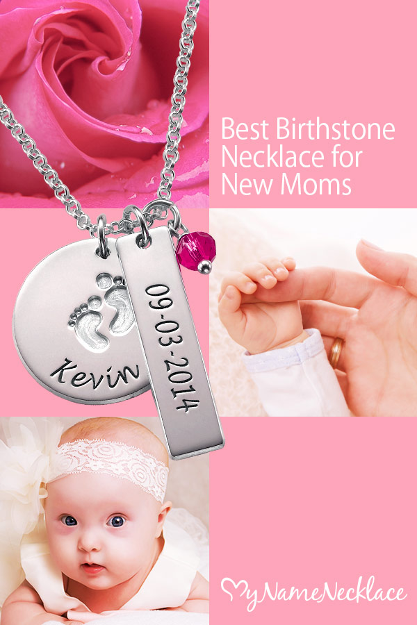 Best Birthstone Necklace for New Moms