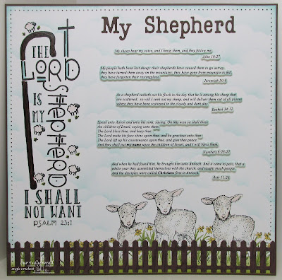 Our Daily Bread Designs Stamp sets: My Shepherd, The Shepherd, Our Daily Bread Designs Custom Dies: Fence, Clouds and Raindrops