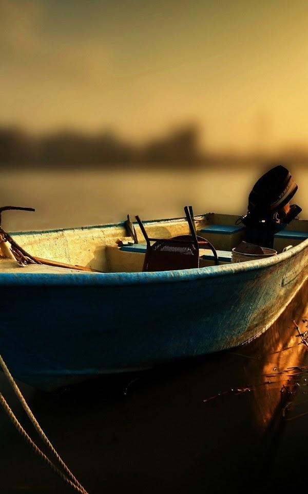 Wood Boat Sunset Tilt Shift  Galaxy Note HD Wallpaper
