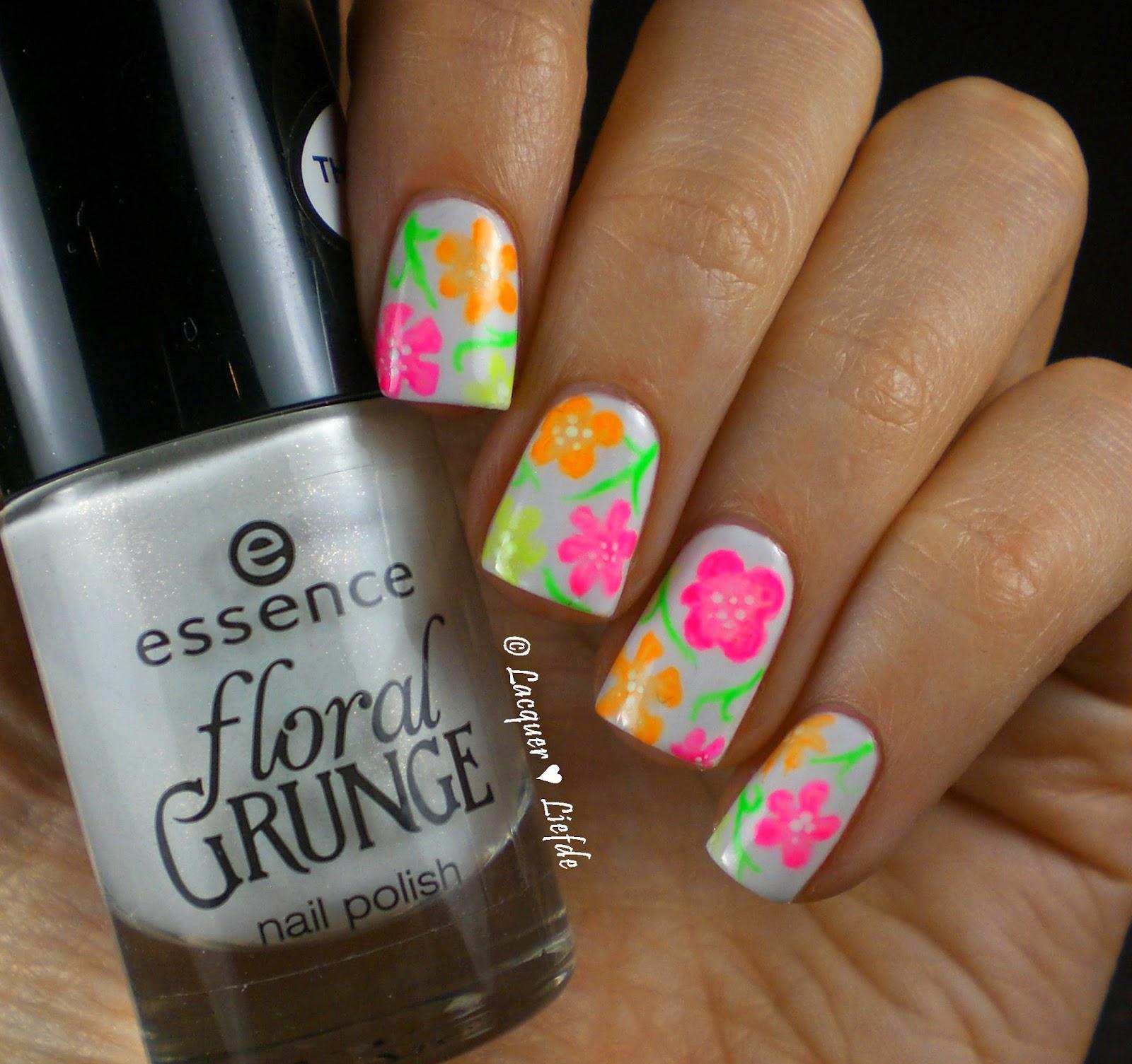 Essence Floral Grunge Neon Blumen