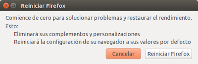 Reiniciar Firefox