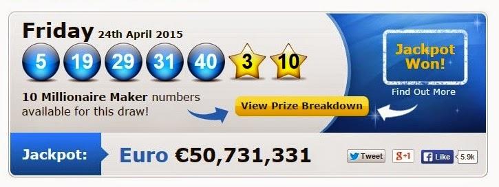 euro millions jackpot