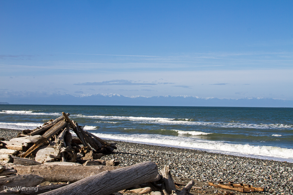Olympic Mountain Range from West Beach