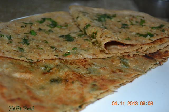 Radish filled chapati