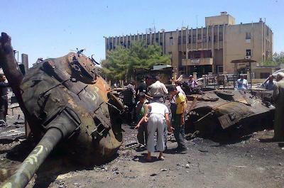 Взрыв боекомплекта т сирийской армии