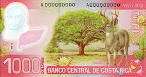 Costa Rica 1.000 Colones hinten