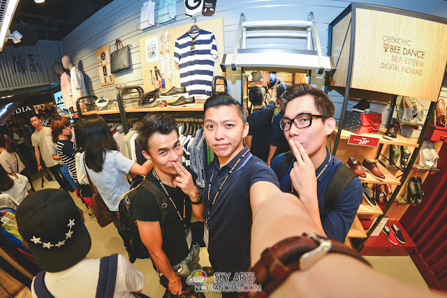 The photo and videography team of the day for CNBLUE x THECLASS: Mango Loke, TianChad and Sam Hon