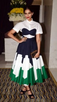 Sonam Kapoor in Cut Out Dress at Business of Fashion 500 Party at Leela Hotel in Delhi