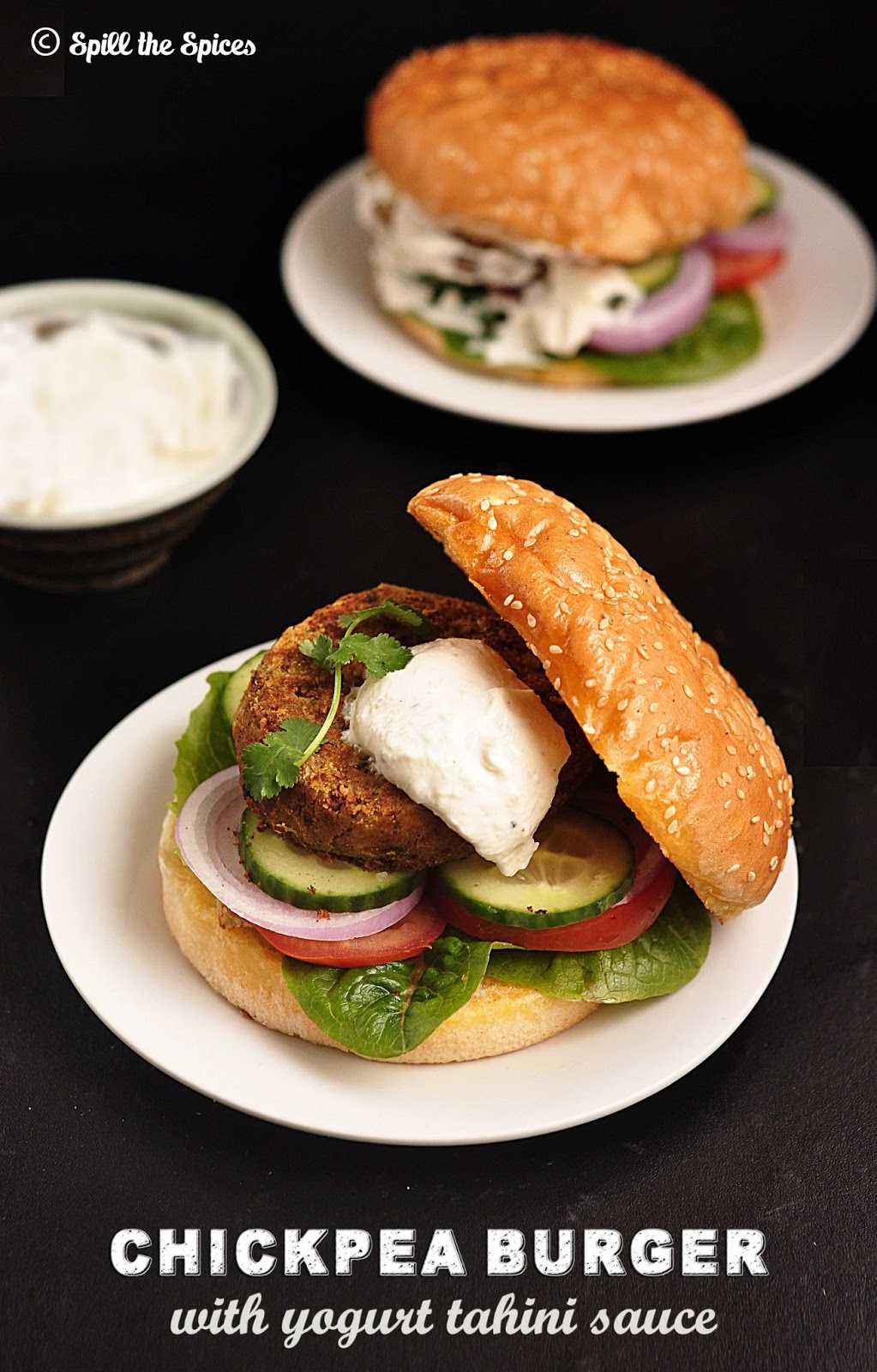 chickpea burgers with tahini chickpea burger with tahini black wild ...