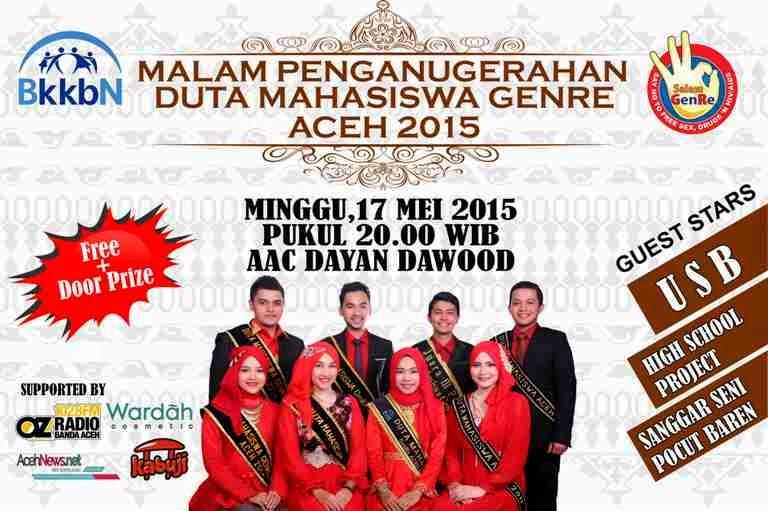 Malam Penobatan Dumas GenRe Aceh 2015