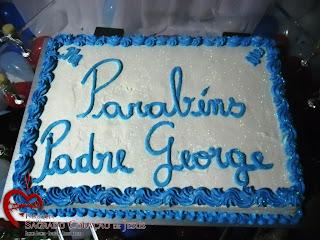 Imágens da Missa em ação de graças pelo aniversário de Pe. George e da confraternização.