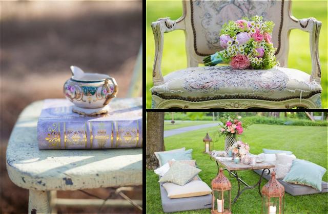 Como crear un rincón chill out estilo shabby chic en bodas y eventos