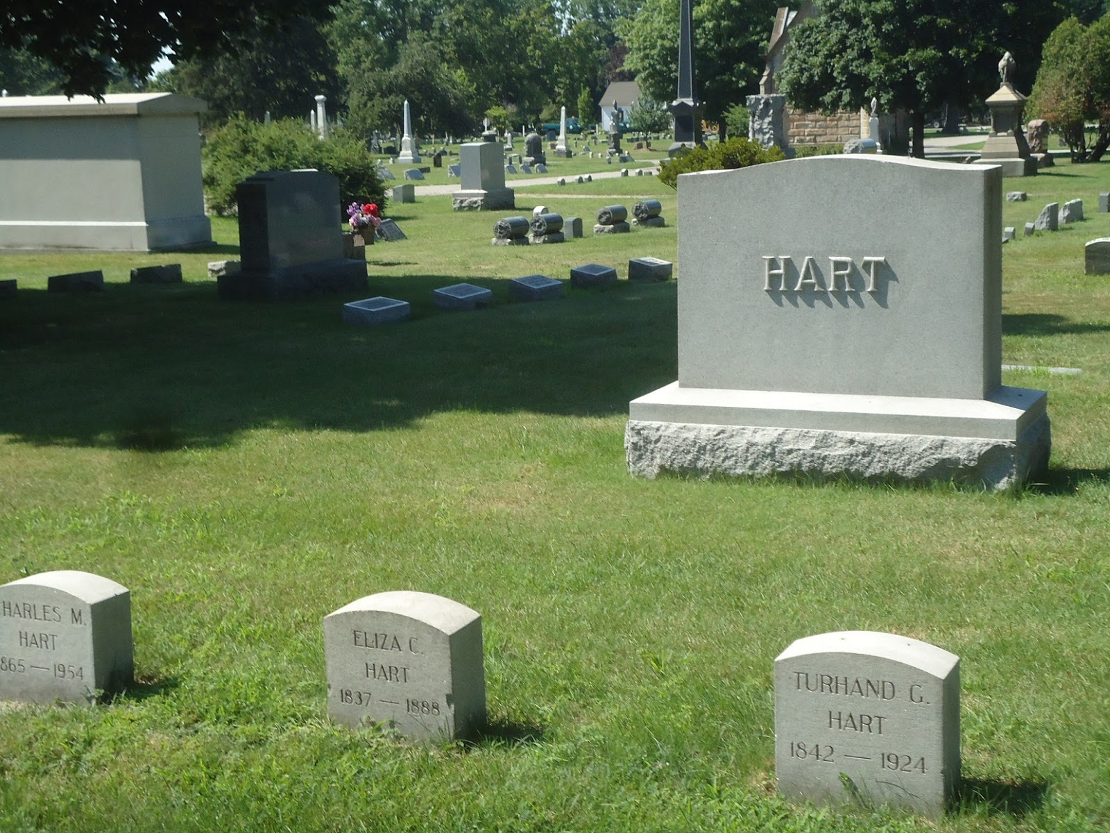 The Hart Family Plot Consists Of Turhand's Son Charles, His First Wife  Eliza, Turhand