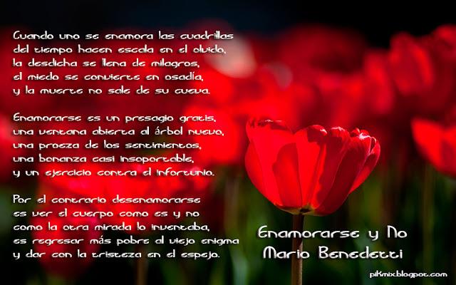 Enamorarse y no • Mario Benedetti  • Poema
